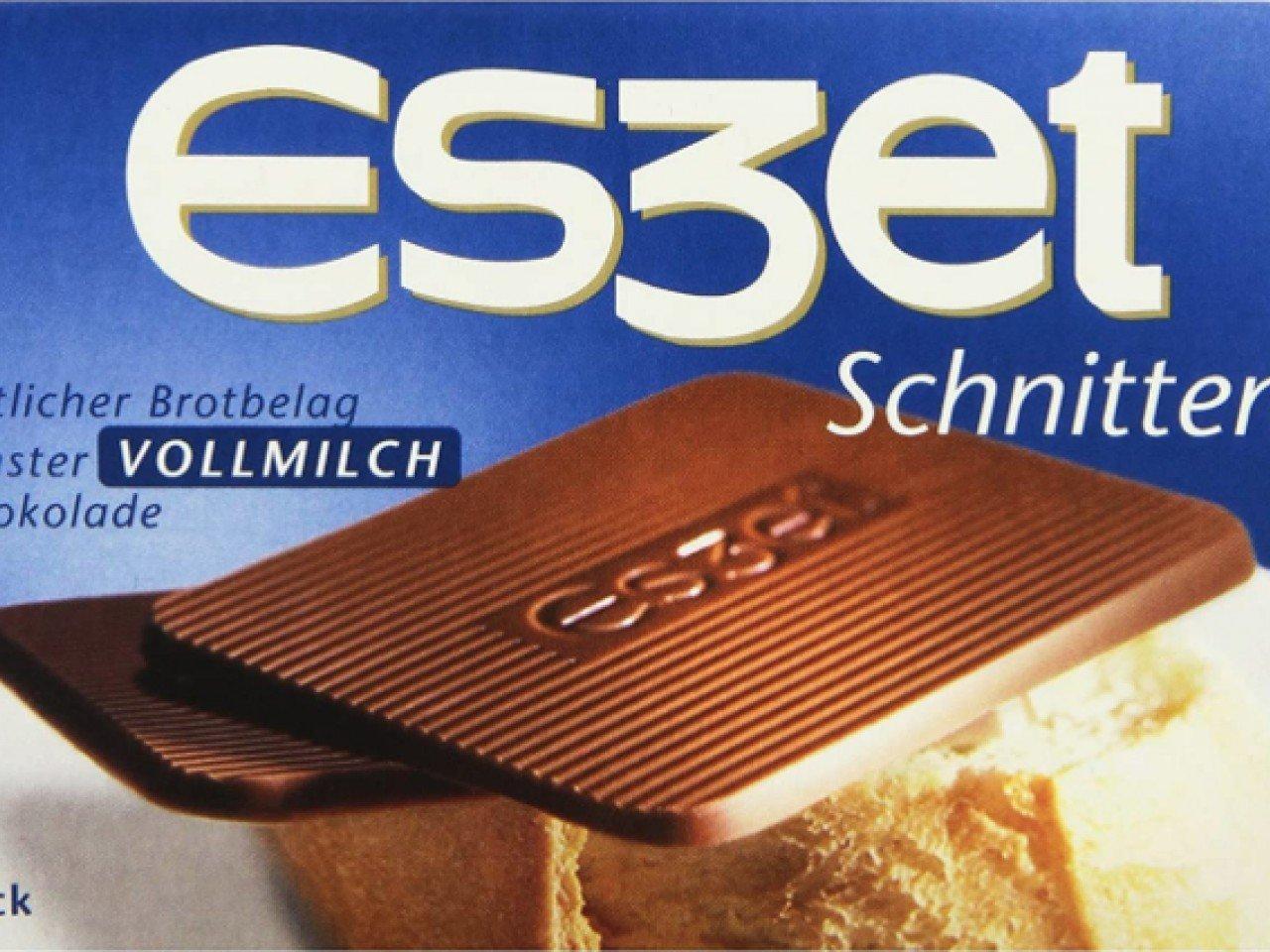 Eszet-Schnitten. Schokolade auf dem Brötchen